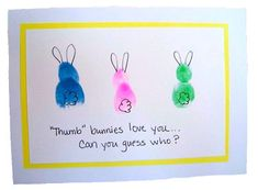 Bunny thumbprint for magnet