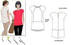 Style Arc - Rosie - Versatile top with interesting back detail