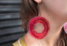 Video tutorial on how to use pieces of scrap yarn to make earrings via creativebug