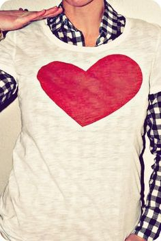 DIY Heart T-shirt - The Proper Pinwheel for Valentine's Day