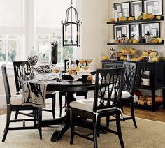 Halloween dining room shelves