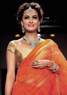 Dia Mirza for http://ShobhaShringar.com/legacy.html Jewellers, Mumbai at #IIJW2014