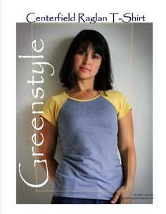 Centerfield Raglan T-Shirt Downloadable Sewing Pattern by GreenStyle