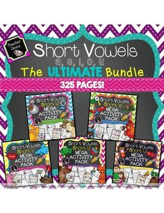 Save 20% on my short vowel packs when you buy this bundle! This short vowels bundle includes my short a, e, i, o, and u MEGA activity packs. These 325 pages are all you will need to teach a unit on short vowels! #TpT #TeacherGems #ShortVowels