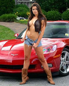 HOT CHICKS FAST CARS corvettes, car girls, corvett girl, auto, modified cars, fast cars, family cars, girl car, female models