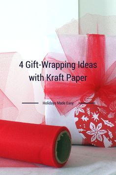 4 DIY Gift Wrapping