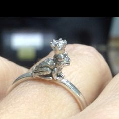 Frog prince ring in silver