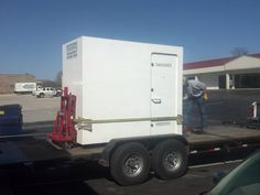 Installing the new storm shelter