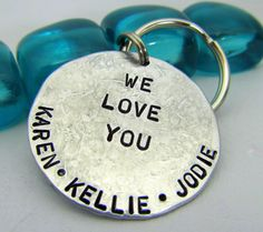 hand stamped, chain gift, men gifts, stamp key, gifts for him christmas, key chain