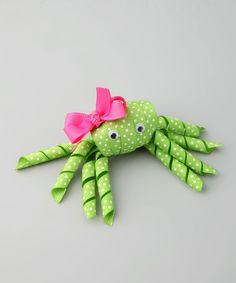 Look at this Bubbly Bows Green Polka Dot Crab Clip on #zulily today!