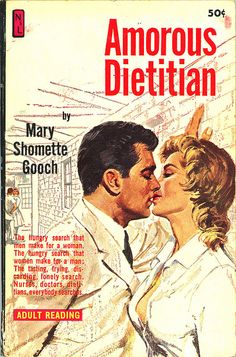 Amorous Dietician - she wants to take a big bite out of him, but he's too high in calories.