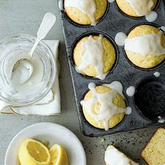 Lemon Muffins Recipe | These muffins will become your most requested breakfast recipe. To make them even more delicious, just add this sweet drizzle over them when they are warm: Stir together 1 cup powdered sugar and 1 1/2 Tbsp. lemon juice. | SouthernLiving.com
