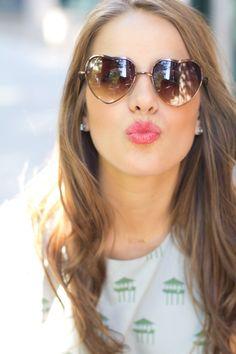 Loving these aviator-inspired heart shaped sunglasses :)