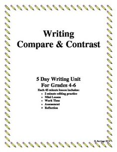 Writing comparing and contrasting essays pdf