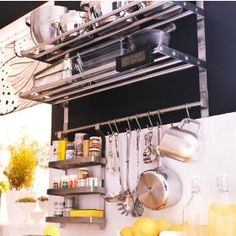 Ikea stainless shelving and storage