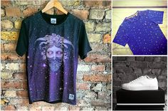 New shit!   Divine Trash Godess Tee Farah Vintage Danelion print tee Religion Paper trainers  Available exclusively in store at JunQi