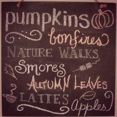 {Fall Chalkboard}