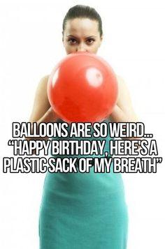 Plastic sack of breath...