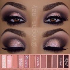 Beautiful makeup look for a night out! For more beauty looks - log on to Pampadour.com! #naked3 #urbandecay #beauty #makeup #cosmetics #smoky #smokey #eyes #eyeshadow