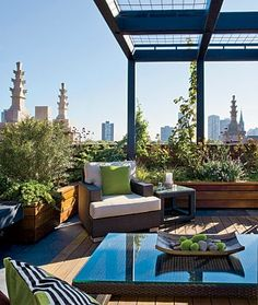 rooftop deck with a French accent via Chicago Home & Garden