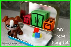 The Activity Mom: DIY Travel Play Set from a mint tin