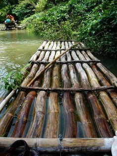 River Rafting on the Martha Brae River, near Montego Bay, Jamaica