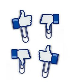 """Facebook """"LIkes"""" Paperclips Photo Holder"""