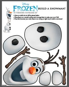 Disney Frozen Olaf Printable for cute Cut & Paste activity