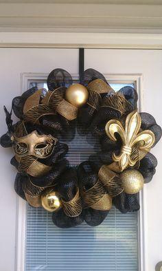 Saints Wreath. Love this!