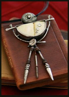 Annie Morgan found object pendant
