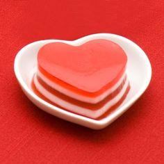 postre de jalea para San Valentin - receta