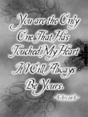 only one that has touched my heart and it will always be yours book ...