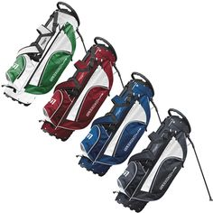 """S:800 Stand Bag in White and Green / Red and White / Navy and White / Black and White - Includes grab bar, dual strap, 'Activ-8' stand and 8"""" divider top"""