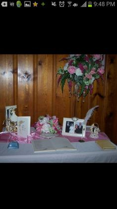 50 th wedding anniversary sign in book using there original book cake topper napkins bible dhe carried down the isle etc