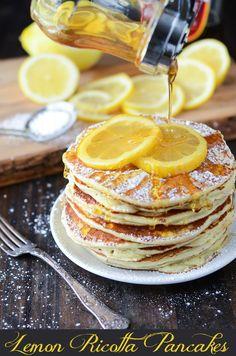 Lemon Ricotta Pancakes from thenovicechefblog.com~T~ I love lemon ricotta pancakes.
