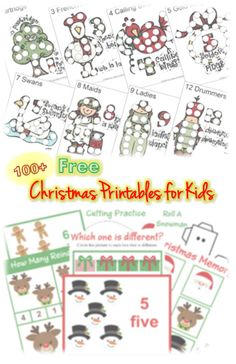 100 Free Christmas Printables for Kids #Christmas