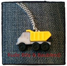 Dump Truck Necklace by RudeBitsJewelry on Etsy