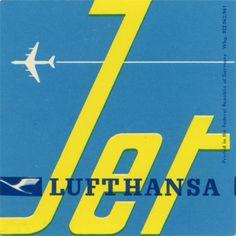 Lufthansa jet label