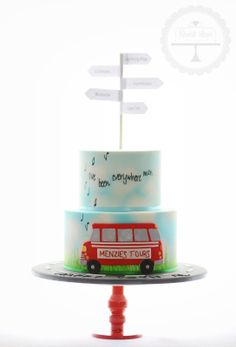 70th birthday cake for a gentleman who was a tour bus  driver