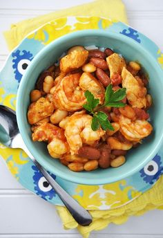 Post image for Chicken & Shrimp with Beans and Salsa Recipe {Portuguese Inspired}