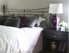 "Dramatic Master Bedroom Makeover~ the power of Sherwin Williams ""Mindful Gray"" paint."