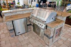Decorative Concrete Outdoor Bar/Countertop - Decorative Concrete for an Outdoor Wine Bar