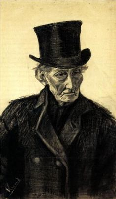 Old Man with a Top Hat - Vincent van Gogh