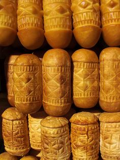 Oscypek -  is a smoked cheese made of salted sheep milk exclusively in the Tatra Mountains region of Poland