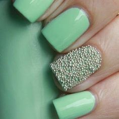 Mint Caviar nails spotted on Pose!
