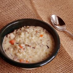 Cream of Chicken and Wild Rice Soup Recipe 2 | Just A Pinch Recipes