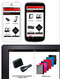 RadioShack promoted certain  products based on the user's open device. For example, if the recipient opened the email on an iPhone, the creative showed only accessories for iPhones, likewise for Android, Kindle Fire, BlackBerry, and other devices.