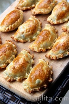 asparagus empanadas with peas and goat cheese....Cocktail Hour Hors d'Oeuvres