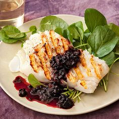 Use your summer produce in this Grilled Cod with Blackberry Sauce