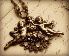 necklac inspir, angel necklac, dainti angel
